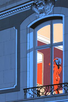 Neighbours by Vincent Mahé on Behance #woman #city #illustration #vincent #mahã©