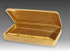 Box/case: exclusive antique purse made of 18K Gold, Vienna Goldpunze from 1922, maker's mark PB