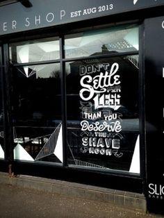 Slick's Barbershop typography by Craig Black