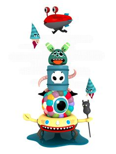Characters' Totems on Behance #totem #silly
