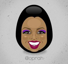 Oprah Twitter Egg | Flickr - Photo Sharing! #twitter #illustration #vector #caricature