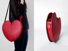 Artery Maxi in Classic Red #heart #red #purse
