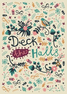 Deck the Halls Art Print #poppyred