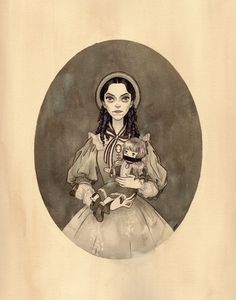 "Julian Callos Illustration (""Drusilla, 1860"" Acrylic and gouache on Rives BFK...) #creepy #woman #girl #doll #illustration #portrait #vintage #art"