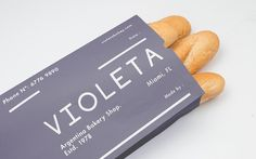 Branding: VIOLETA Argentinian Bakery - JOQUZ #branding #graphic design #packaging #bakery #foil