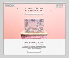 site, design, pink, box, abstract, website