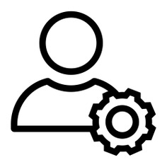 See more icon inspiration related to user, settings, avatar, man and people on Flaticon.