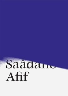 KUMMER & HERRMAN / Sadaane Afif flyer #exhibition #flyer