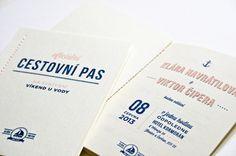 Navy Wedding invite #invite #invitation #stationery #navy #passport #wedding #nautical