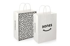 Bones - Burgess Studio #bag #shopping bag #print