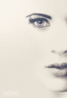 Open Shooting The Second Photography #white #woman #photo #eyes #lips #black #manipulation #and #face