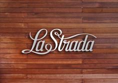 Drop Anchors #strada #wood #la #grain #3d #typography