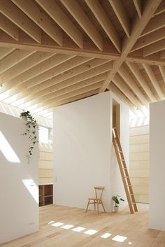 wood ceiling beams #minimal #japanese