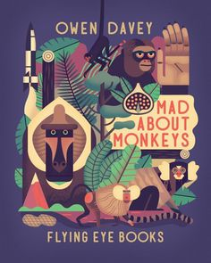 Illustration by Owen Davey #illustration #monkey #animal #geometric #illu #graphic