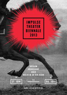 Fons Hickmann M23: Impulse Theater Biennale Posterseries #fons #hickmann
