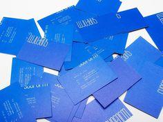 subform #identity #business card #pantone #subform #dennis de vries #reflex blue