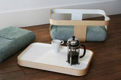 Versatile side table that you can use as a tray, seat, basket, coffee table or even a foot stool! #side #design #home #product #furniture #industrial #table