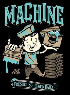 Illustrator: Travis Price: Melbourne Victoria Australia #retro #tshirt #screen #printing #illustration #vintage #character