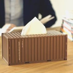 Shipping Container Tissue Box #tech #gadget #ideas #gift #cool