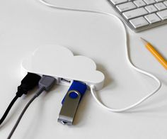 Cloud USB Hub #tech #flow #gadget #gift #ideas #cool