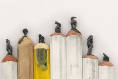 An Alphabet of Animals Carved from Crayons and Other Miniature Pencil Works by Diem Chau