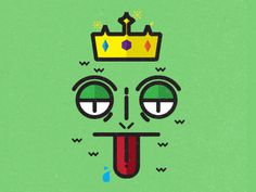 lizard king #icon #illustration #vector #king