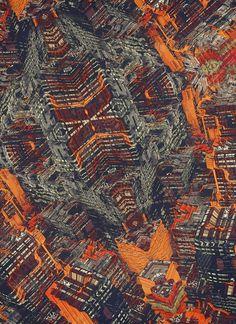 CITY PATTERN on the Behance Network #illustration #orange