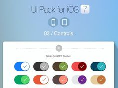 UI Pack for iOS 7 Please check full Preview: http://goo.gl/ln4k6A #controls #ios7 #button #ui #switches #segment #tabs