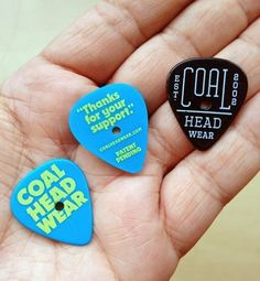 Draplin Design Co. #guitar #stoppers #aaron #picks #draplin #coal #pick #typography