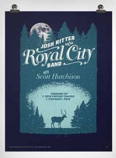 Josh Ritter and the Royal City Band #music #silkscreen #poster #typography