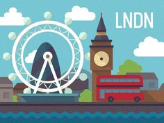 LNDN #somple #london #city #geometric #illustration #minimal