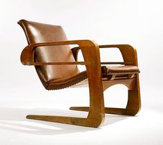 MARK MCDONALD DEFINES #chair #design #airline #wood #kem #leather #1934 #30s