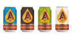 Brand Identity | Austin Beerworks | Helms Workshop #packaging #beer #cans #branding