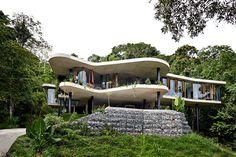 Planchonella House,© Sean Fennessy #house #gabions