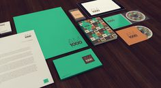 AM 1000 on the Behance Network #retro #bold #green