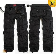 Black Hiking Cargo Pants for Men CW100017