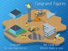 Congruent Figures - Isometric infographics on Behance