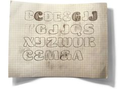 Typeverything.com Initial sketches of the Smidgen... - Typeverything #lettering #drawing #letter #type #pencil