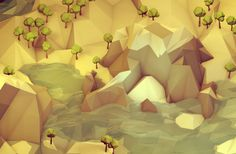 Low Poly [Isometrics] on Behance #illustration #low #poly
