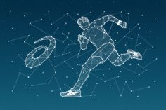 Key Visual for ASICS #asics #running #stars #sky #night #race #runner #illustration #constellation