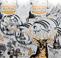 Bendmore Four casks Packaging on the Behance Network #packaging #illustration #design #deer