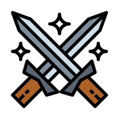 See more icon inspiration related to war, fight, miscellaneous, blade, antique, ancient, swords and weapons on Flaticon.