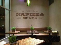 Napizza Interior Wall #logo #restaurant #branding #typography
