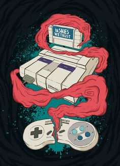 In SNES we Trust on Behance