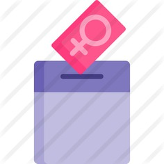See more icon inspiration related to human rights, cultures, woman suffrage, feminism, voting, vote, femenine, gender, female, women, box, girl and right on Flaticon.