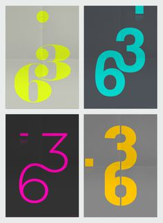 Colour combinations #63 #typography #orange #turquoise #birthday #poster #numbers #colour #grey