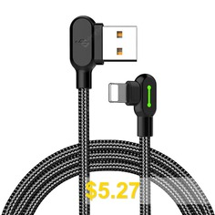 MCDODO #8 #Pin #USB #Cable #Fast #Charger #For #IPhone #For #IPad #For #IPod #- #BLACK