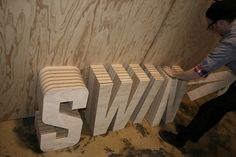 Seesaw Design's Photos - Swindle signage construction (8) #signage #identity #branding #retail