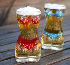 Lady Torso Bikini Beer Mug #gadget