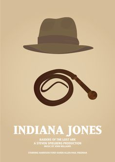 minimalistic movie poster #movie #jones #indiana #minimalistic #illustration #poster